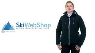 Kilpi, Addison ski jacket, women, plus size black