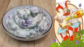 Как сделать чесночный соус за 4 минуты, рецепт. Лучшие соусы в нашей видео школе.