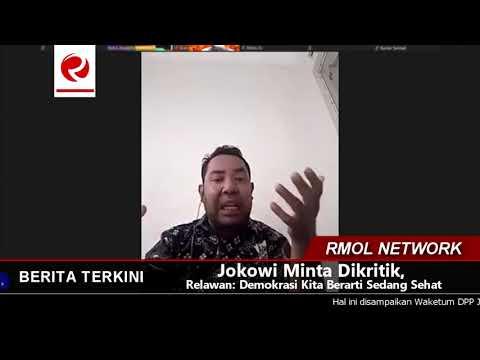 Jokowi Minta Dikritik, Relawan: Demokrasi Kita Berarti Sedang Sehat