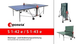 Sponeta S 1-42 e / S 1-43 e - Montageanleitung Tischtennistisch / Instructions for assembly and use