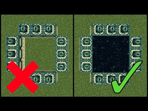 How to Make An End Portal   Minecraft 1.12