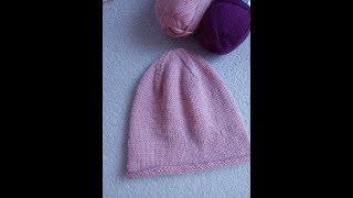 Вязаная шапка ( Бини). Вяжем макушку. Часть 1... Вязание спицами.