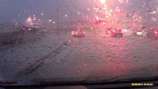 Super Hail Storm Cell, Ringwood - 9/9/2014