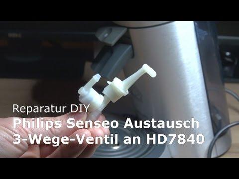 Reparatur Austausch Philips Senseo 3 Wege Ventil an HD7840   DIY Anleitung