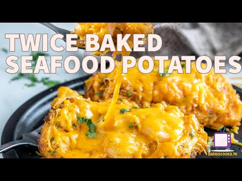 Twice Baked Seafood Potatoes | For when you need something decadent!