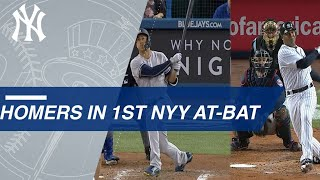A Look at Yankees Players Who Hit First At-Bat Homers - Video Youtube