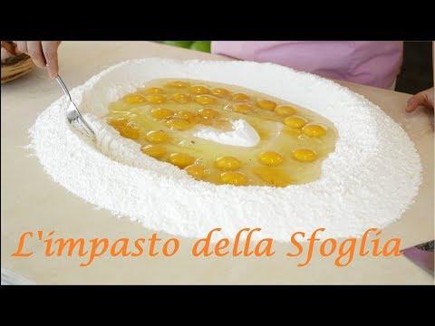 L'IMPASTO DELLA SFOGLIA.