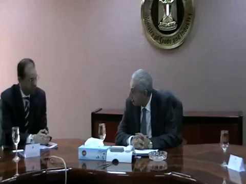 لقاء الوزير/طارق قابيل بوفد شركة جلياد ساينسز الامريكية لانتاج الادوية