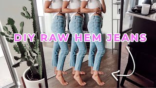 RAW JEAN HEM DIY TUTORIAL | CLOTHING HACK