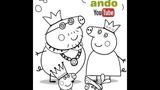 Descargar Dibujos Para Pintar Y Colorear Para Niños De Peppa Pig Y A Su Familia