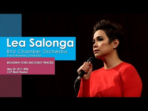 Lea Salonga sings with BYU Chamber Orchestra  Watch later  Share