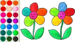 Drawing with Flowers, Coloring for Kid