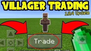 HOW to TRADE with VILLAGERS on Minecraft Pocket Edition!!! (MCPE 1.0.4 Update)