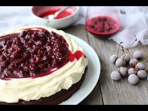 Video Eggless Black Forest Cake recipe