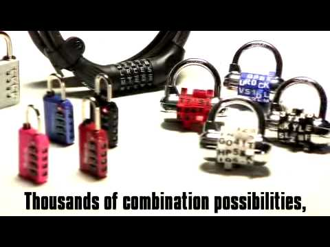 8220D Password Bike Combo Lock: Use words for easy recall