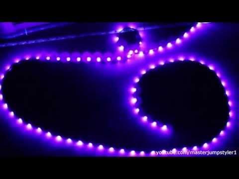 Livarno LUX 5m UV-LED Band // Unboxing und Test // UV-LED vs UV-Röhre