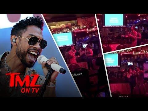 Miguel Surprises A Karaoke Singer! | TMZ TV