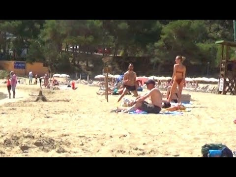 #CALA LONG IBIZA. VERY POPULAR SMALL RESORT WITH A LARGE BEACH - LOTS OF SMALL BARS & RESTAURANTS