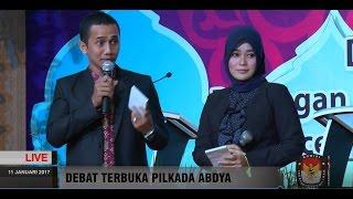 TANYA JAWAB , TANGGAPAN DAN MENANGGAPI (2) Debat Calon Bupati-Wakil Bupati Abdya