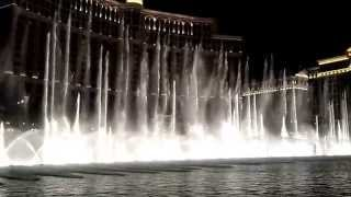 USA national anthem at the Fountains of Bellagio Las Vegas