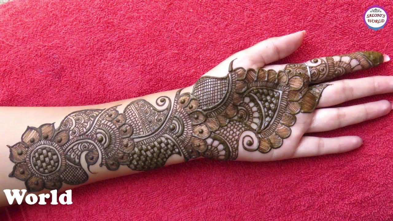 full hand mehndi design arabic bridal design by saloni world