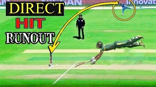 #10 Fastest Direct Hit RunOuts In Cricket History Ever - Impossible Run Outs
