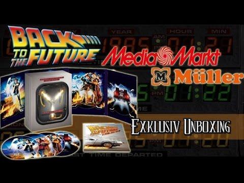 Zurück in die Zukunft - Trilogie - Fluxkompensator Media Markt & Müller exklusiv Blu-ray unboxing
