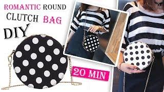 DIY CUTE DOTS ROUND PURSE BAG // Crossbody Bag Tutorial No Sew