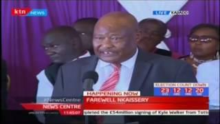 CIC Chairman Francis Ole Kaparo eulogizes the late CS Joseph Nkaissery