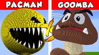 PACMAN vs GOOMBA – PvZ vs Minecraft vs Smash