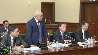 Как Назарбаев разговаривал с министрами и акимами