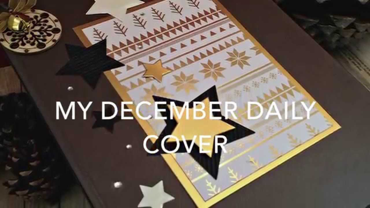My December daily cover. Scrapbooking tutorial (English)