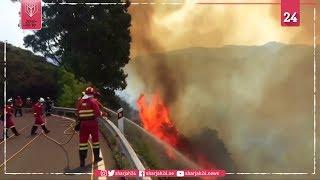 حريق غابات جزر الكناري يخرج عن السيطرة ويتسبب بفرار 8 آلاف