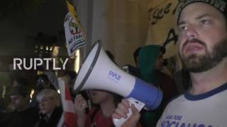 LIVE: Anti-Trump protesters rally in NYC