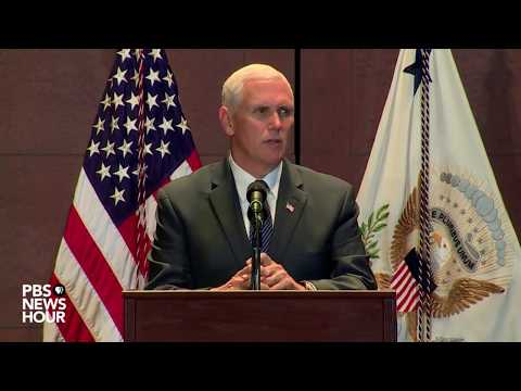 Pence addresses jobs, health care and the economy