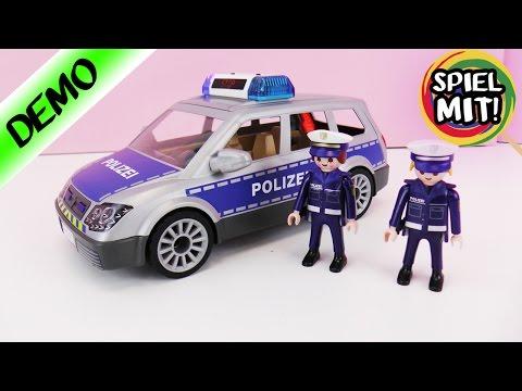 Playmobil POLIZEI CITY ACTION EINSATZWAGEN 6873 - Einsatzwagen mit 2 Polizisten | Demo