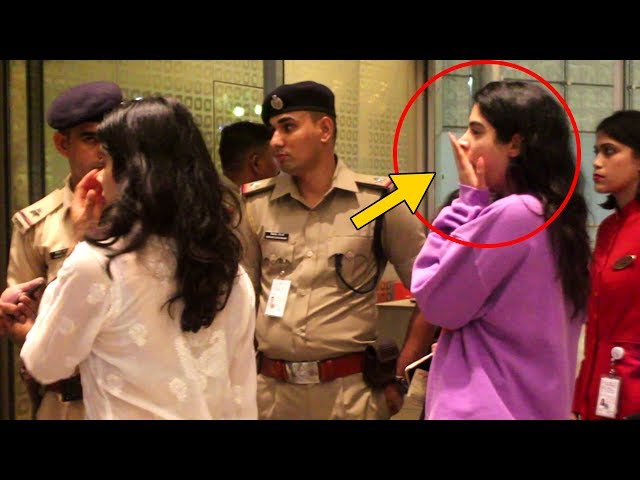 Khushi Kapoor YAWNING In Middle Of Security Check At Airport, Mumbai
