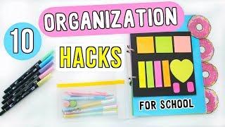 10 Organization Hacks + DIYs For Back to School 2018! | Ellen Kelley