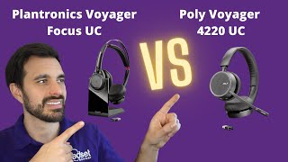 Plantronics Voyager Focus UC vs Poly Voyager 4220 UC - Live Mic & Speaker Demo!