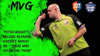 "Michael van Gerwen: ""Peter Wright's record average doesn't annoy me – there was no crowd there"""