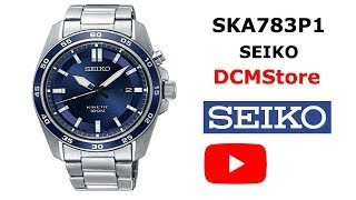 SKA783P1 Seiko Stainless Kinetic Blue Dial