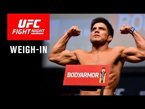 La pesée de l'UFC on ESPN+ 1 en direct