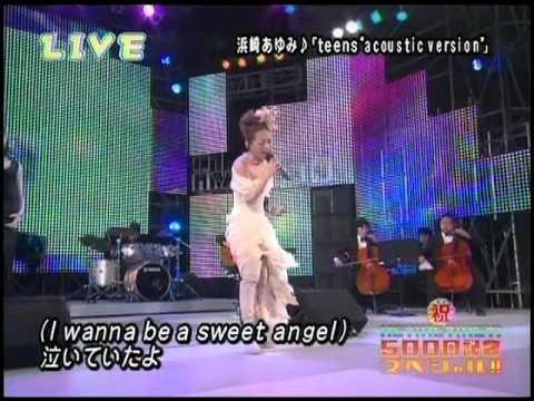 Ayumi Hamasaki (浜崎あゆみ) - teens ~acoustic version~   Talk 06.04.03 HEYx3SP