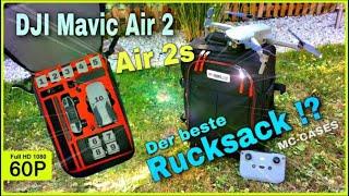 DJI MAVIC AIR 2/2s - Transport-Rucksack von MC-CASES | Platz für 10 Akkus! | Der beste Rucksack??