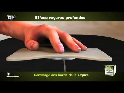 comment reparer grosse rayure voiture
