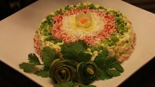 Салат из крабовых палочек☆ПОПРОБУЙТЕ ☆Imitation crabmeat salad