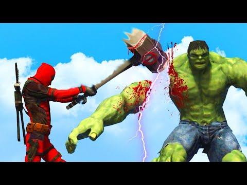 Hulk vs Deadpool - Epic Battle