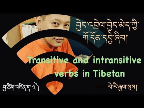 བྱེད་འབྲེལ་བྱེད་མེད་ཀྱི་གོ་དོན། Transitive & intrasitive verbs in Tibetan བྱ་ཚིག་འཛིན་གྲྭ་ ༣)