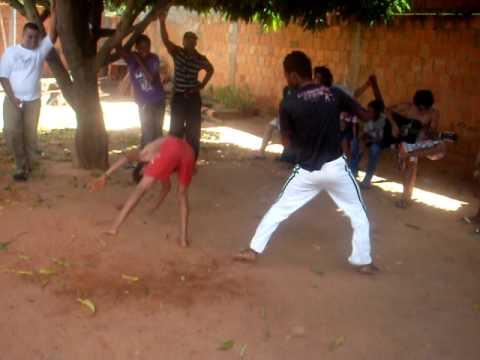 Roda de capoeira em Simolândia