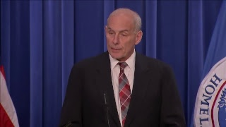 Secretary Kelly announces new